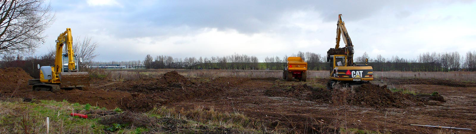 Grondverzetbedrijf - Nieuwbouw Hobru Geldermalsen