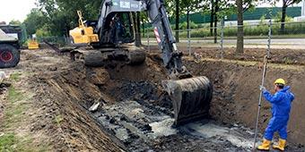 Grondverzetbedrijf - Verleggen watergang Geldermalsen